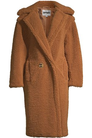 Apparis Women's Daryna Double-Breasted Faux Shearling Coat - - Size Medium