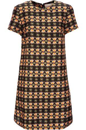 La DoubleJ Women's Edition 22 Floral Silk Mini Swing Dress - - Size XS
