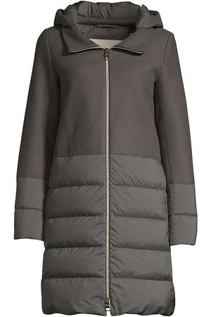 HERNO Women's Nuage Wool-Blend Puff Down Jacket - - Size 40 (4)