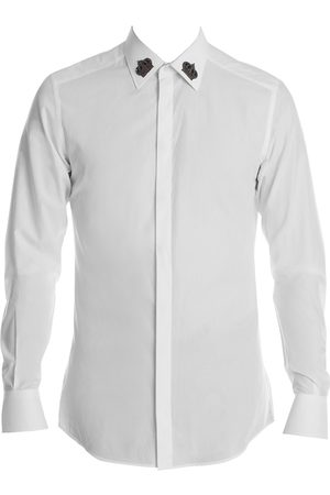Dolce & Gabbana Men's Crown Collar Cotton Poplin Shirt - - Size 42 (16.5)