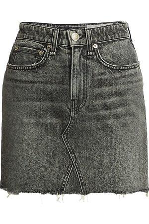 RAG&BONE Women's Itty Bitty Frayed Hem Denim Mini Skirt - - Size 32 (12)