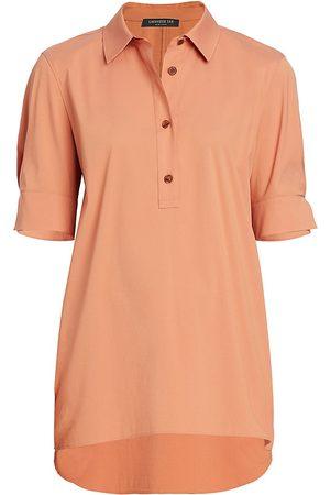 Lafayette 148 New York Women's Stretch Cotton Boyes Shirt - - Size XL