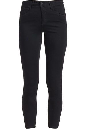 L'Agence Women's Margot Skinny High-Rise Ankle Skinny Coated Jeans - - Size 31 (10)