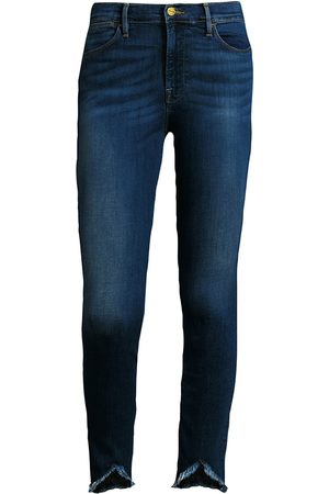 Frame Women's Le High Skinny Frayed Triangle-Hem Jeans - - Size 31 (10)