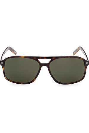 Z Zegna Men's 60MM Plastic Square Sunglasses