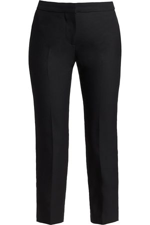 Alexander McQueen Women's Cropped Cigarette Trousers - - Size 34 (2)