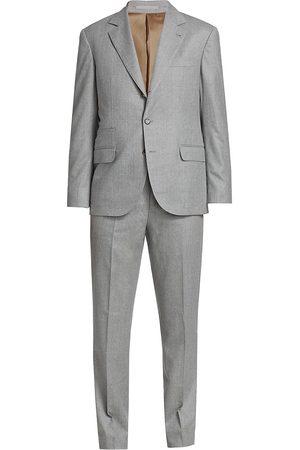 Brunello Cucinelli Men's Flannel Wool Suit - - Size 58 (48)