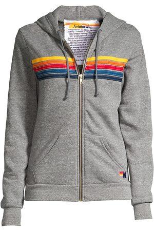 AVIATOR NATION Women's Five-Stripe Zip-Front Hoodie - - Size XS