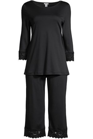 Hanro Women's Two-Piece Moments Pajama Set - - Size Medium