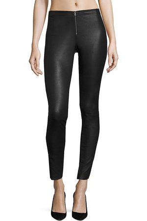 ALICE+OLIVIA Women's Front-Zip Leather Legging - - Size 12