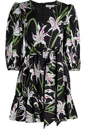 Borgo De Nor Women Printed Dresses - Women's Anita Floral Poplin Dress - Lily - Size 2