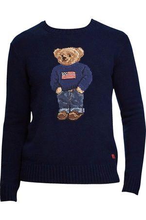 Ralph Lauren Men's Cashmere Flag Bear Sweater - - Size XXL