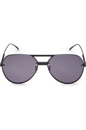 Bottega Veneta Men's 61MM Metal Aviator Sunglasses