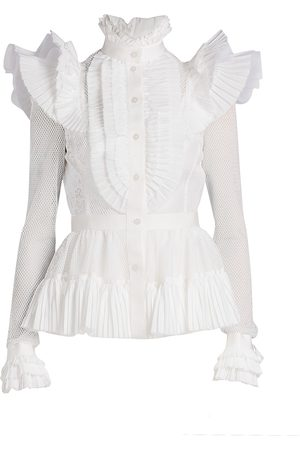 UNTTLD Women's Valeria Highneck Ruffle Blouse - - Size 8