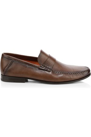 santoni Men's Paine Leather Loafers - - Size 9 D