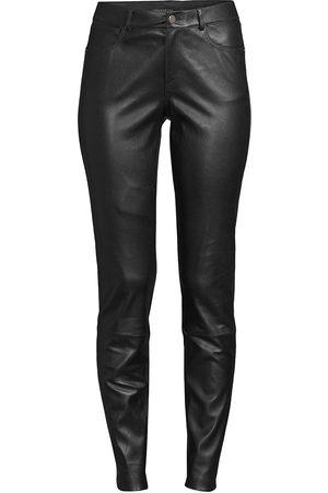 Lafayette 148 New York Women's Nappa Leather Mercer Pants - - Size 16