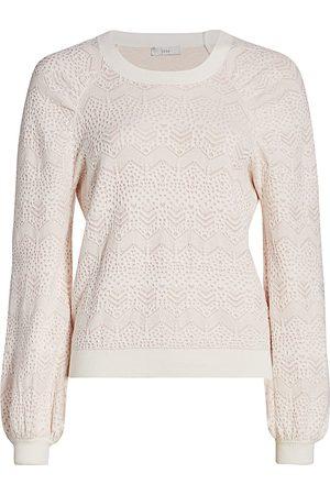 Joie Women's Dulcia Lace Textured Sweater - - Size XS