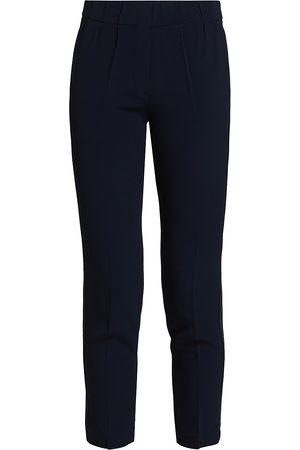 Brunello Cucinelli Women's Stretch-Silk Monili-Trim Pull-On Pants - - Size 42 (6)