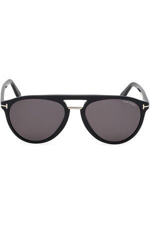 Tom Ford Men's Burton 59MM Rounded Aviator Sunglasses
