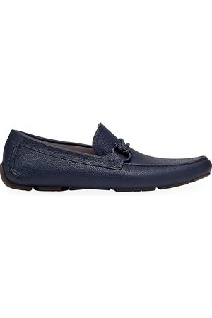 Salvatore Ferragamo Men's Front 4 Leather Driving Loafers - - Size 12 E
