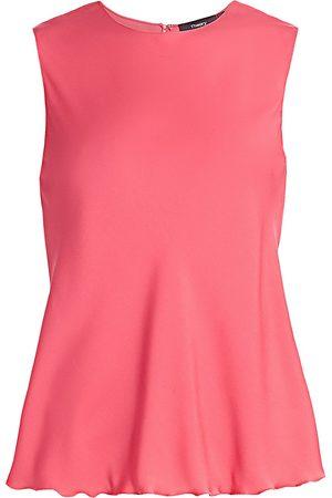THEORY Women's Ruffle Stretch-Silk Shell - - Size XS
