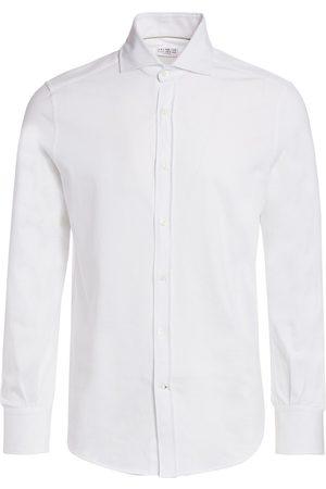 Brunello Cucinelli Men's Basic-Fit Jersey Shirt - - Size 56 (46)