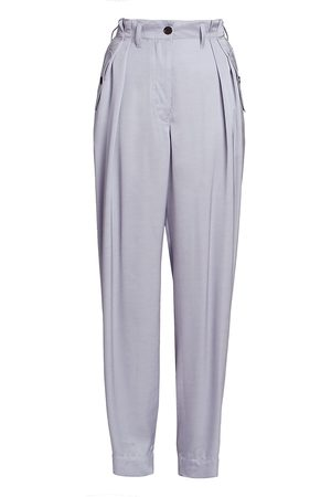 DRIES VAN NOTEN Women's Satin Cargo Trousers - - Size 36 (4-6)