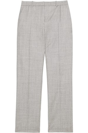 THEORY Women's Treeca Flannel Wool Cropped Pants - - Size 16