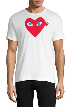 Comme des Garçons Men's Red Heart Tee - - Size Large