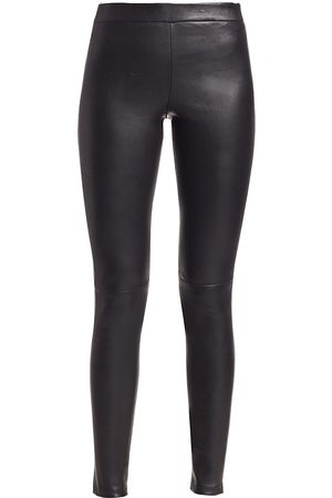 THEORY Women's Adbelle Leather Leggings - - Size 10