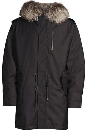 Mackage Men's Moritz Fox & Rabbit Fur Military Parka - - Size 42