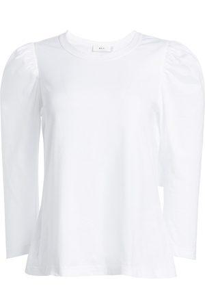 A.L.C. Women's Karlie Puff-Sleeve Tee - - Size XL