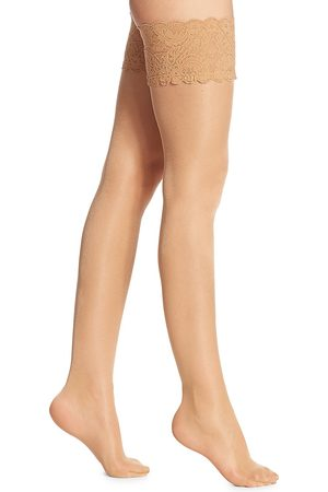 Wolford Women's Satin Touch 20 Denier Evening Thigh Highs - - Size Medium