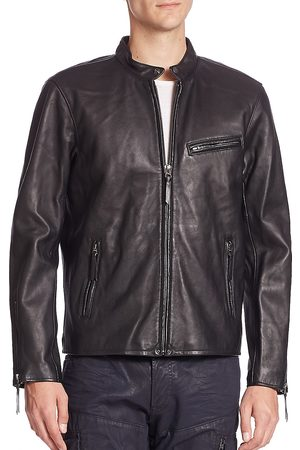 Polo Ralph Lauren Men's Lambskin Leather Café Racer Jacket - - Size XXL