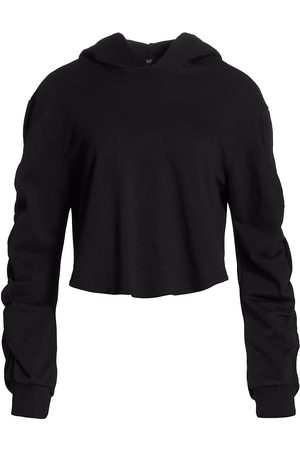 Heroine Women's Ruched Cropped Hoodie - - Size Large