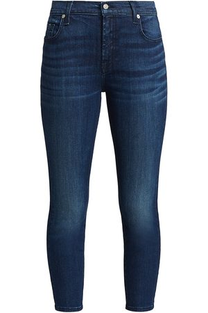 7 for all Mankind Women's Mid-Rise Ankle Skinny Jeans - - Size 27 (4)