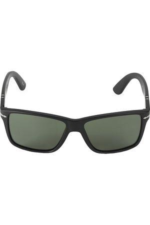 Persol Men's 58MM Matte Rectangular Sunglasses