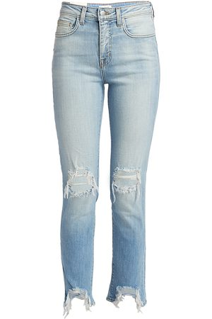 L'Agence Women's High Line High-Rise Skinny Distressed Jeans - - Size 32 (12)