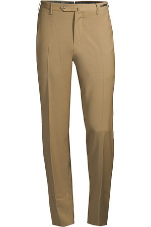 PT01 Men's Traveller Slim-Fit Performance Wool Trousers - - Size 60 (44)