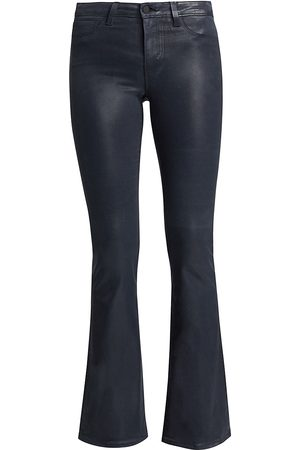L'Agence Women's Bell High-Rise Coated Flare Jeans - - Size 32 (12)