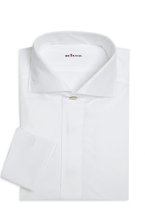 Kiton Men's Contemporary-Fit French Cuff Dress Shirt - - Size 39 (15.5)