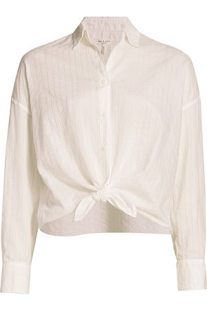 RAG&BONE Women's Striped Tie-Front Long-Sleeve Shirt - - Size Small