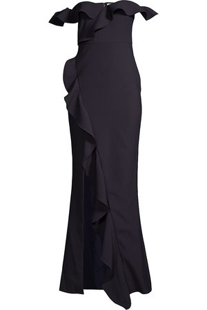 LIKELY Women's Miller Off-The-Shoulder Ruffled Gown - - Size 10