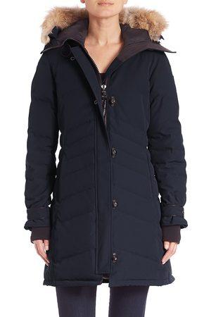 Canada Goose Women's Arctic Tech Lorette Fur-Trim Down Parka - - Size Large