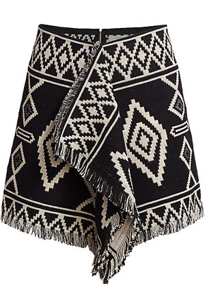 Isabel Marant Women's Jiloa Boho Pattern Ruffle Mini Skirt - - Size 42 (10)