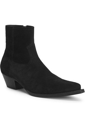 Saint Laurent Men's Lukas Suede Western Ankle Boots - - Size 45 (12)