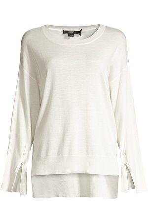 SEVENTY BY SERGIO TEGON Women Tops - Women's Lurex Trim Long-Sleeve Top - - Size 46 (10)