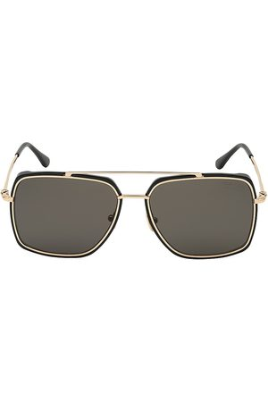 Tom Ford Men's 60MM Square Metal Sunglasses
