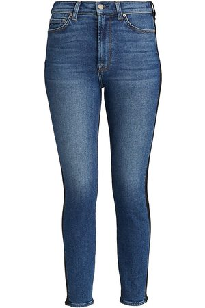 7 for all Mankind Women's Coated High-Waisted Ankle Skinny Jeans - - Size 29 (6-8)