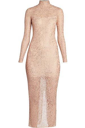 Ralph and Russo Women's Nude Embellished Midi Cocktail Dress - - Size 44 (12)